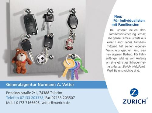 Gemeinde Talheim Zurich Versicherungen Normann A Vetter
