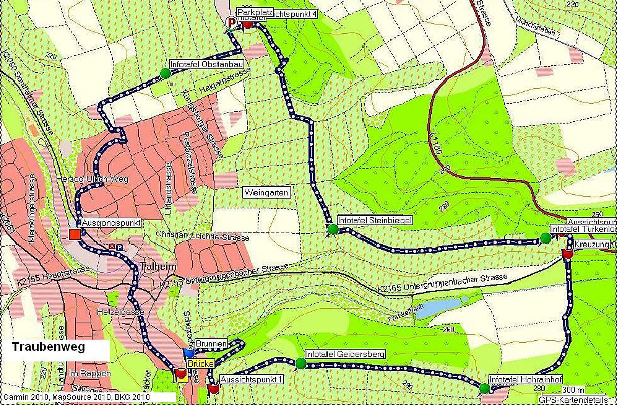 Plan des Traubenweg