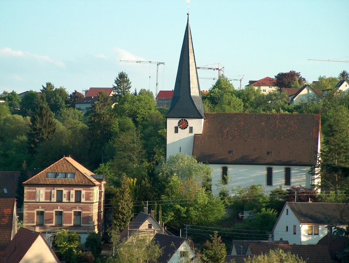 Blick auf evangelische Kirche