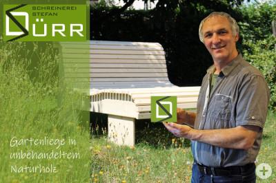DÜRR-Gartenliege mit unserem Schreinermeister Stefan Dürr