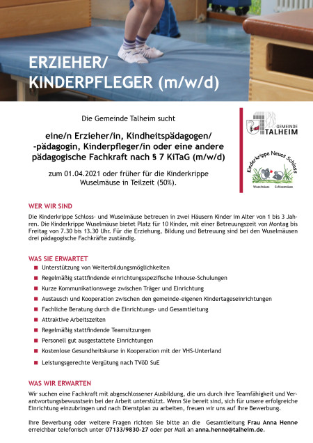 Anzeige Erzieher (Stand 07.10.2020)